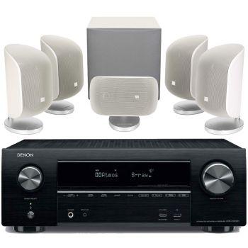 DENON AVR-X1500+BW MT50-WH Conjunto Home Cinema