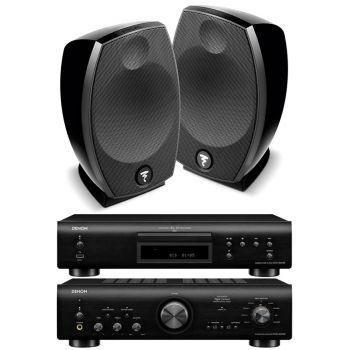 Denon PMA-800NE Black+DCD800 Black+Focal Sib Evo Conjunto Hifi