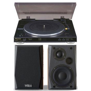 Equipo HiFi Pioneer PL990 Giradiscos + Altavoces Wiibo Neo 50 Altavoces activos Bluetooth