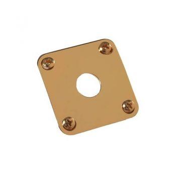 Gibson Metal Jack Plate Gold Repuesto Guitarra Eléctrica