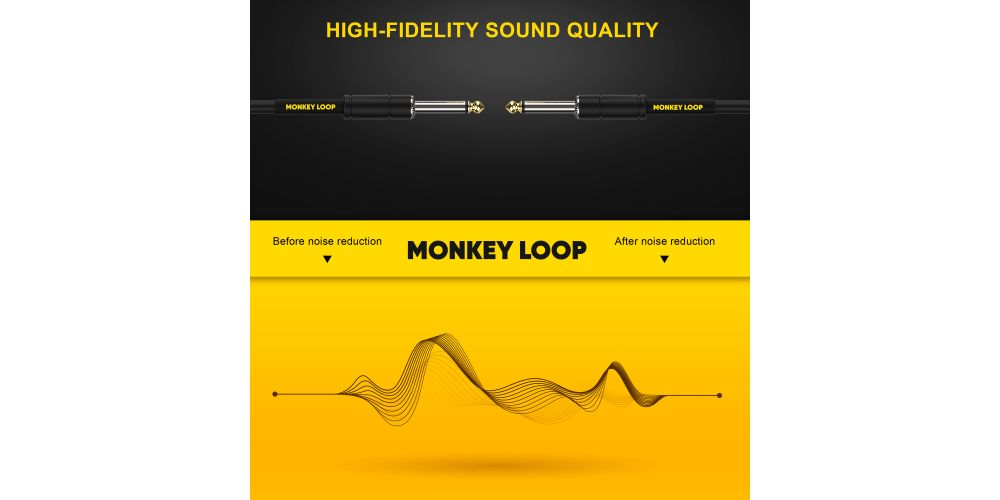 monkey loop standard cable jack mono jack mono noise reduction