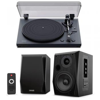Equipo HiFi TEAC TN-175 Giradiscos Con Previo Phono + Audibax Beta 2BT Altavoces Activos Bluetooth