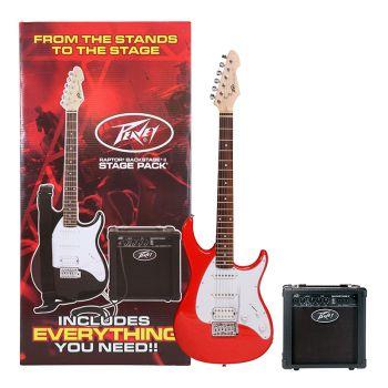 Peavey Raptor Plus Stage Pack Red Guitarra Eléctrica Pack Completo