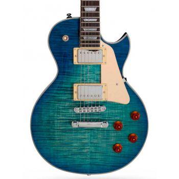 Larry Carlton L7 Guitarra Eléctrica Transparent Blue Burst