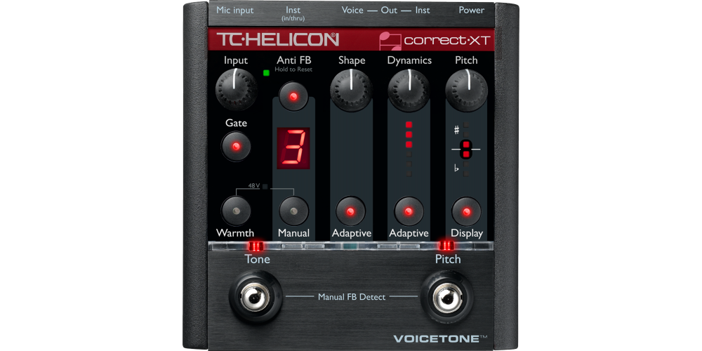 tc helicon voicetone correct xt pedal efectos