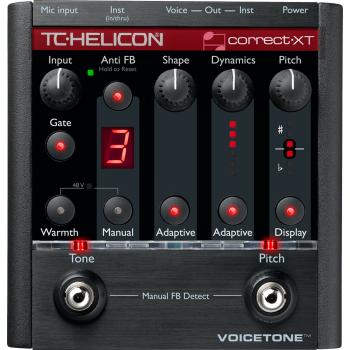 TC Helicon VoiceTone Correct XT, Pedal Procesador Efectos Vocal -
