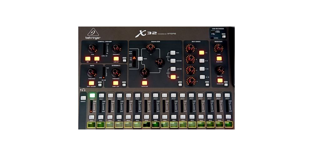 BEHRINGER X32 CONTROLES