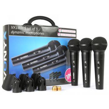 VONYX VX1800S Microfono dinamico set 3pcs 173450