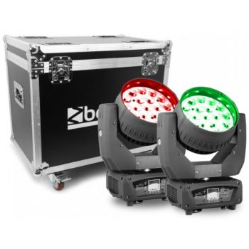 Beamz MHL1915 Cabeza Movil LED Zoom 2pcs en Flightcase 150522