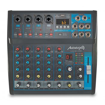 Audibax MG06 USB, Mesa Mezclas 6 canales con Bluetooth, MP3 ,USB Rec y EFECTOS
