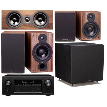 DENON AVR-X2400+SX60 Walnut Cinema Pack 5.1