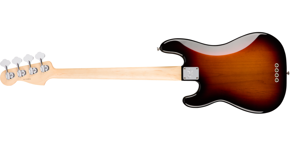 fender american pro precision bass maple fingerboard 3 color sunburst detras