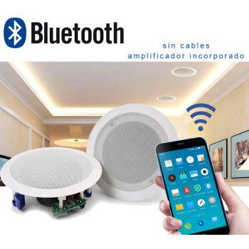 Audibax CM508L-BT Altavoces Techo Blancos Bluetooth empotrables Techo 2 x 20W 5,25