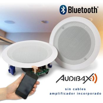 Audibax CM508L-BT Altavoces Techo Blancos Bluetooth empotrables Techo 2 Vías  2 x 20W 5,25
