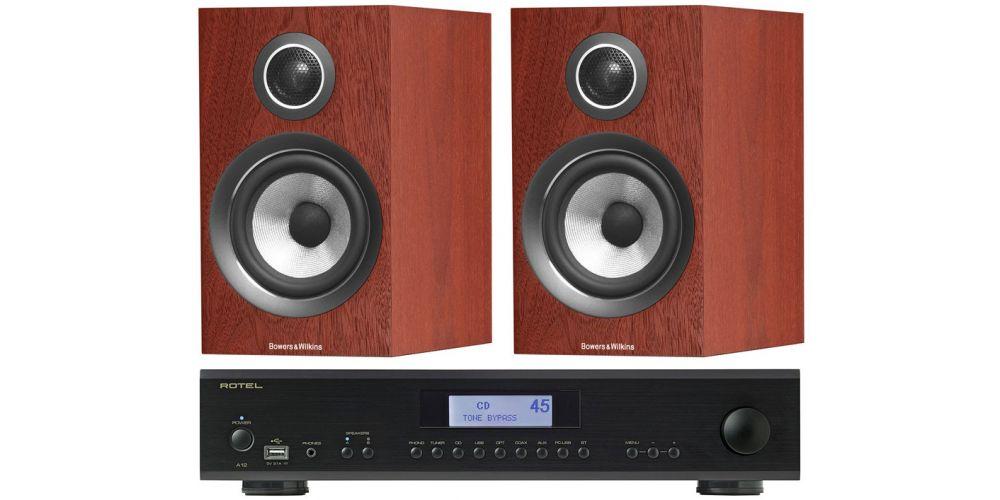 Rotel A12 Black amplificador a12 bk bw707