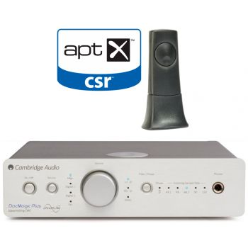 Cambridge Audio DACMAGIC Plus Silver+BT100 receptor de audio Bluetooth