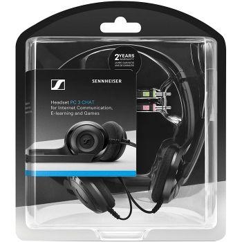 SENNHEISER PC-3 CHAT (USB) Auriculares Teletrabajo Pc + Adaptador de Mini Jacks a USB