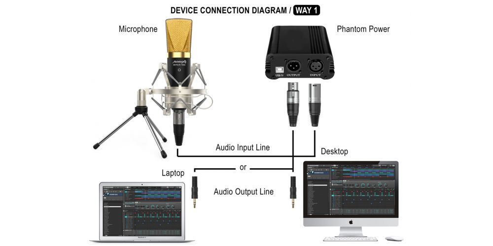 audibax berlin 1800 gold micro estudio