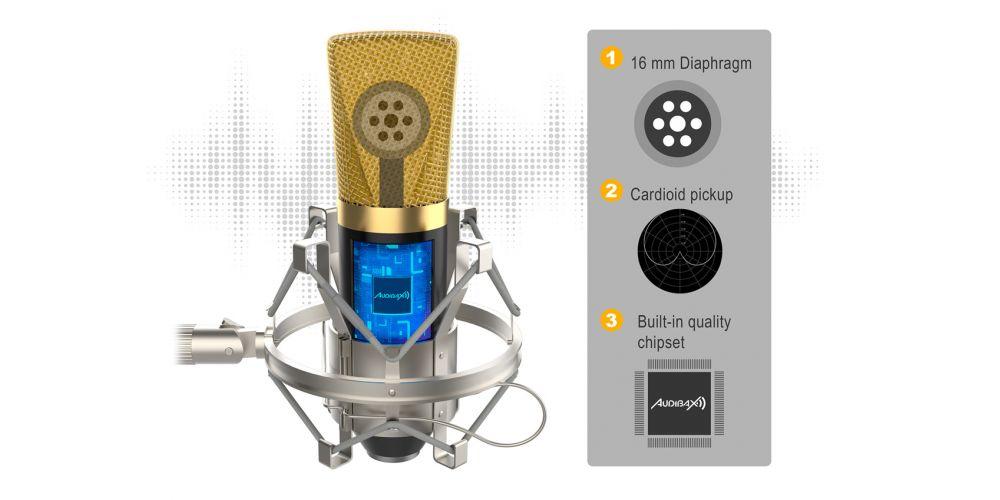 audibax berlin 1800 gold microfono estudio