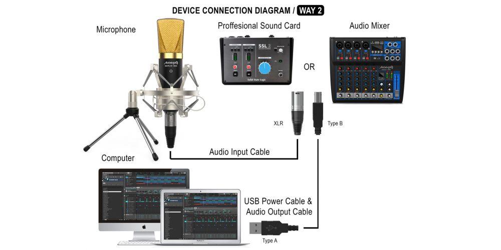 audibax berlin 1800 gold microfono