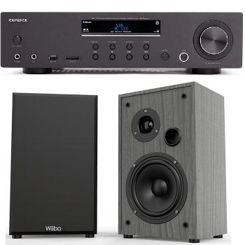 Equipo HiFi Bluetooth AIWA AMU-120BTBK 60+60W RMS + Altavoces Wiibo String 15 100W