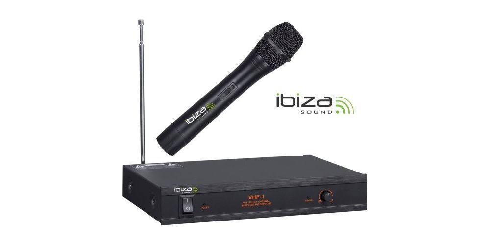 MICROFONO INALAMBRICO IBIZA SOUND VHF1 B