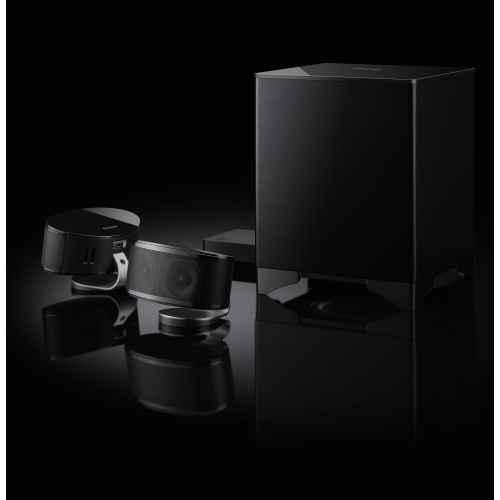 ONKYO LS-3200 B Sistema Home Cinema 2.1 con Altavoces, Negro