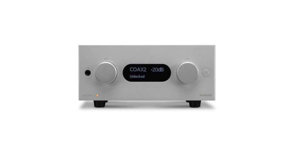 Audiolab mdac plus conversor digital analogico plateado