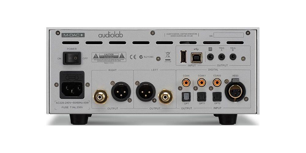 audiolab m dac back silver