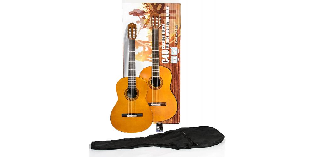 YAMAHA C40 PACKAGE STD Pack de Guitarra Clasica C40 Afinador YTC5  Funda blanda