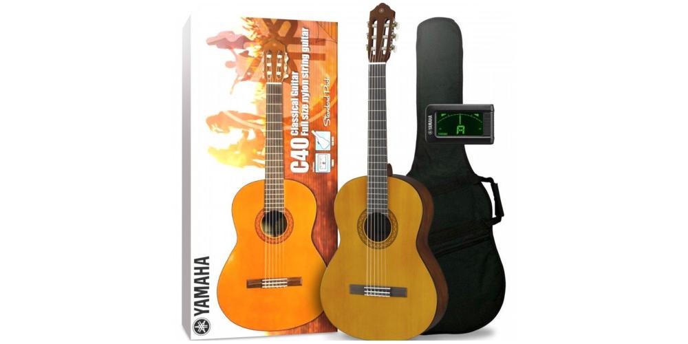 yamaha pack guitarra clasica c40 package standard