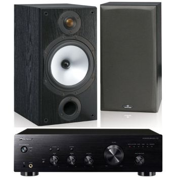 Pioneer A-20 K + Monitor Audio MR2 Black Conjunto Audio