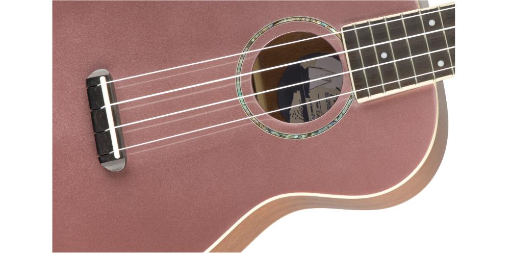 fender zuma classic concert burgundy mist cuerdas