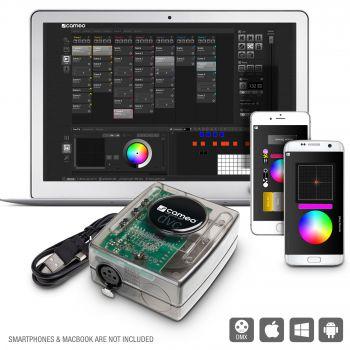 CAMEO DVC Interfaz USB a DMX con 512 canales y software de control
