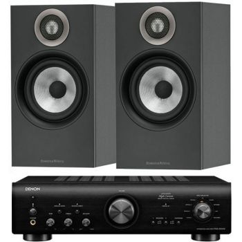 Denon PMA-800AE Black+BW 606 Black Conjunto Audio