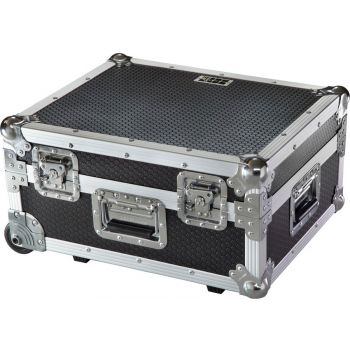 Walkasse TT PRO-LIMITED Flight Case Multi Formato Tocadiscos (Trolley + Ruedas) Plata