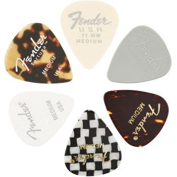 Fender 351 Shape Material Medley Medium Pack 6