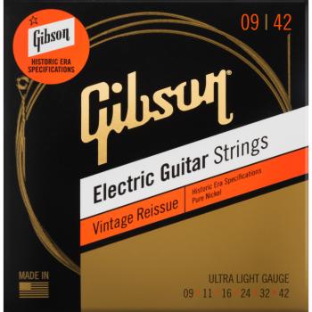 Gibson Vintage Reissue Electric Guitar Strings Ultra-Light Cuerdas Guitarra Eléctrica
