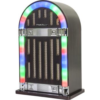Madison MAD-JUKEBOX 10 Jukebox Vintage con Batería y Bluetooth
