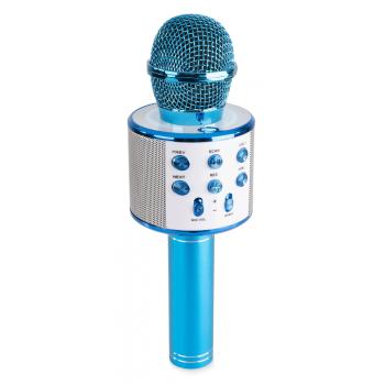 max KM01B Micrófono de Karaoke con Altavoz Incorporado bt/mp3 Azul 130136