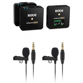 RODE Wireless GO II Sistema de Micrófono Digital Inalámbrico + 2 Rode Lavalier Go