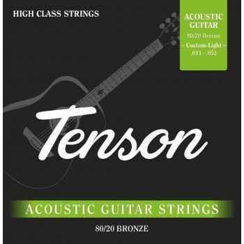 Gewa F600605 Cuerdas Guitarra Acústica Tenson Bronce .011 - .052, Custom Light