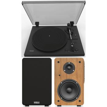 Equipo HiFi TEAC TN-175 Black Giradiscos Con Previo Phono +Wiibo Neo 100 Altavoces Activos Bluetooth