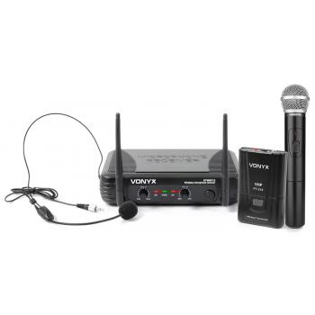 VONYX STWM712C Micrófono Inalambrico Doble de Mano y Diadema
