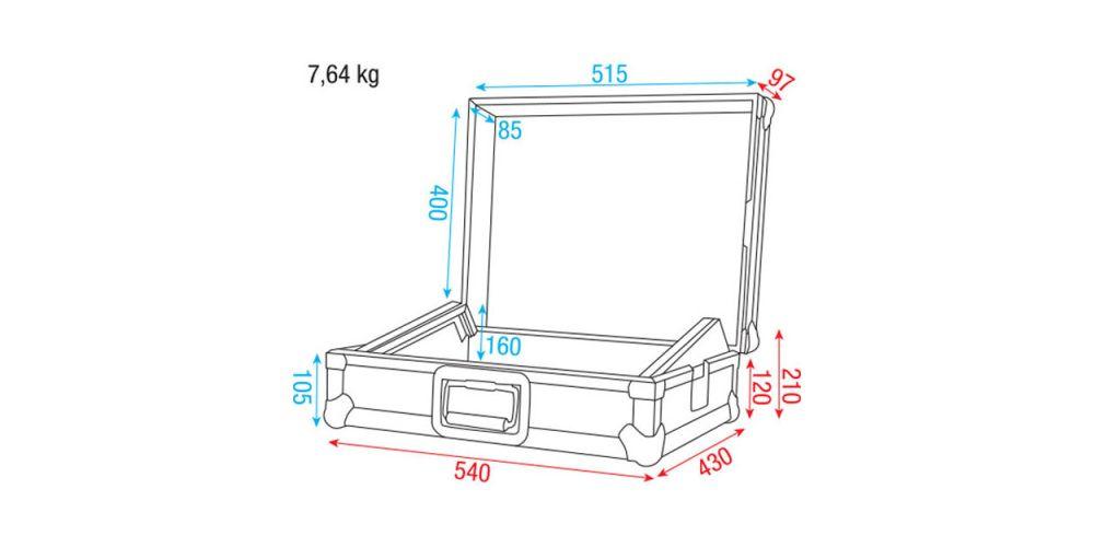 dap audio mixer case19 dimensiones