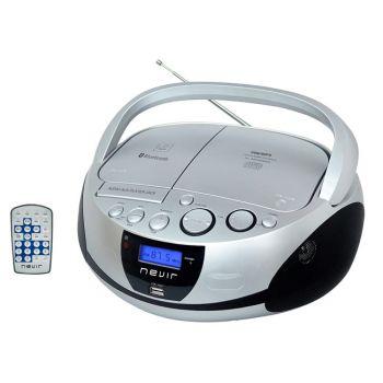 NEVIR NVR-480UB Radio-CD Bluetooth USB Plata