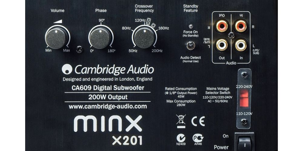 cambridge minx x201 black conexiones