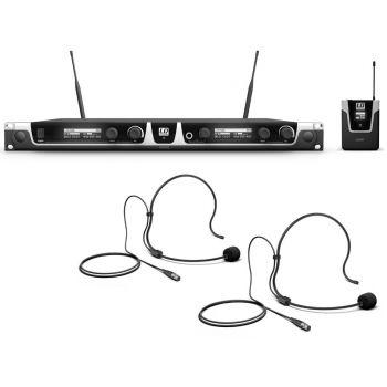 LD SYTEMS U506 BPH 2 Microfono inalámbrico con 2 petacas y 2 diademas