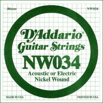 D´addario NW034 Cuerda Suelta para Guitarra Eléctrica