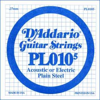 D´addario PL0105 Cuerda Suelta para Guitarra Eléctrica